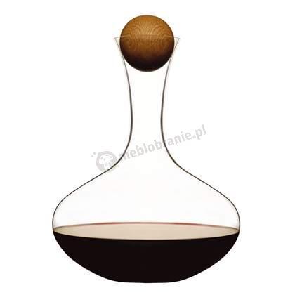 Karafka do wina z dębowym korkiem Sagaform Oval Oak