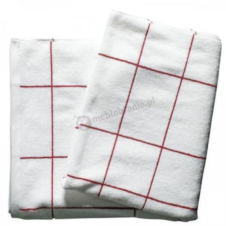 Ręcznik kąpielowy, biało-czerwony Sagaform Wellness