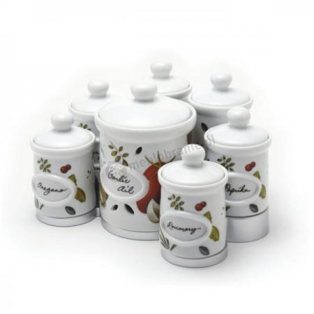 Zestaw pojemników na przyprawy i czosnek