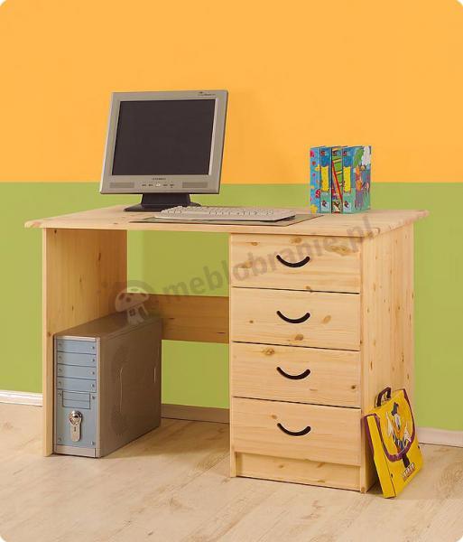 Biurko dla dziecka sosnowe surowe CROSS