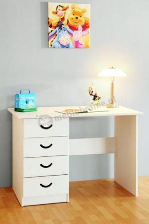 biurko sosnowe białe CROSS