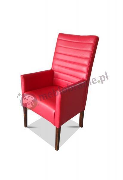 Fotel pikowany poprzecznie prosty 98cm