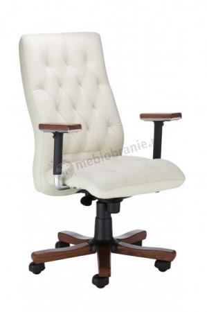 Fotel biurowy Chester extra z drewnianymi nakładkami