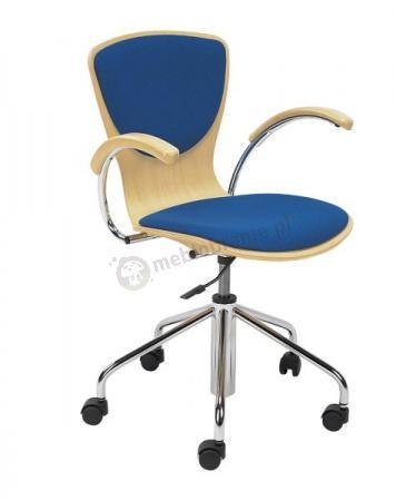 Krzesło obrotowe Bingo wood plus gtp chrome opinie sklep internetowy