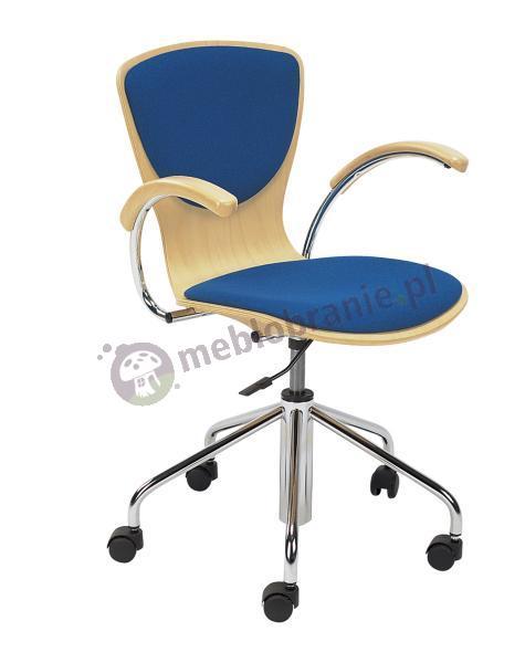 Krzesło obrotowe Bingo wood plus gtp chrome