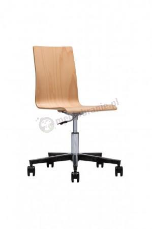 Krzesło obrotowe Latte gts steel 23 chrome w wykończeniu drewnianym opinie