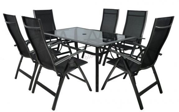 Meble Ogrodowe Aluminiowe Z Parasolem :  Rettangolo 150×90 (6 krzeseł)  Meble ogrodowe  Meblobraniepl