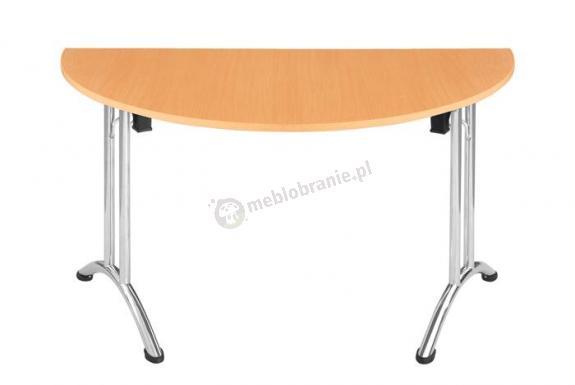 Stół Domino 135cm półowal składany