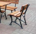 """Krzesło ogrodowe """"Królewskie"""" bez podłokietnika"""