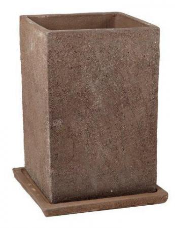 Donica Terraza 28.014.41  donica kwadrat 600 x 410 mm ceramiczna Brąz