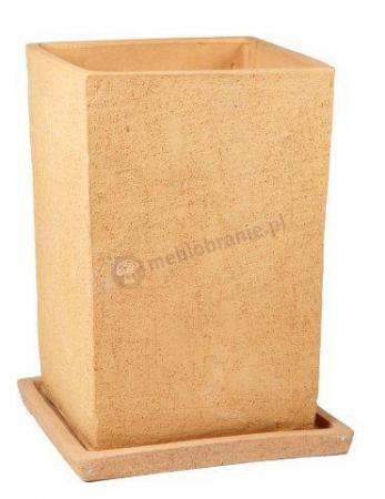 Donica Terraza 28.015.23 donica kwadrat 330 x 230 mm ceramiczna Beż
