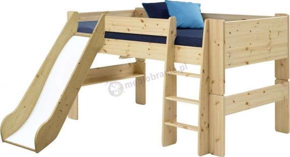 Łóżko na antresoli niskie ze zjeżdzalnią  Mikka