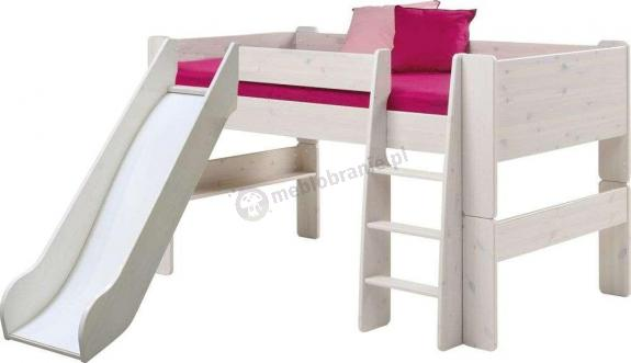 Łóżko na antresoli niskie ze zjeżdzalnią Nelly