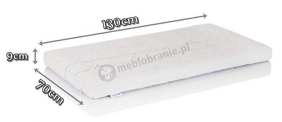 Materac Hevea Baby wymiary 130x70