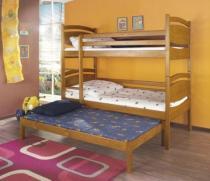 Łóżko piętrowe 3-osobowe Cezary