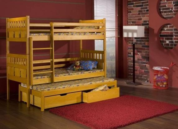 Łóżko piętrowe 3-osobowe Maksymilian