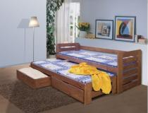 Łóżko parterowe Tomasz kolor sosna