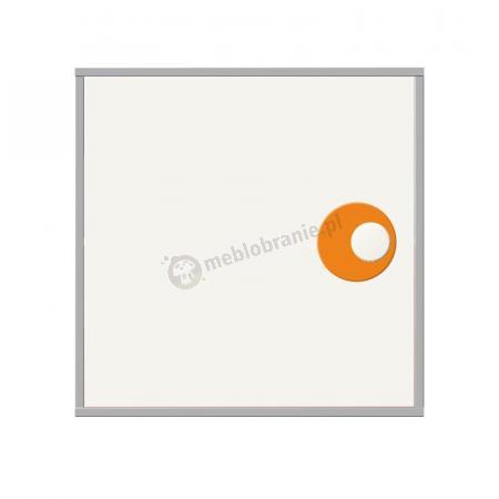 Laminowana, zamykana szafka z półką i uchwytem 01E-F