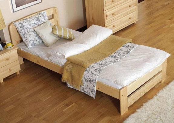 Łóżko drewniane Lilia sosnowe