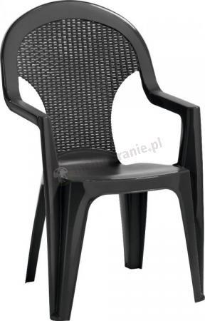 Krzesło ogrodowe Santana grafitowe
