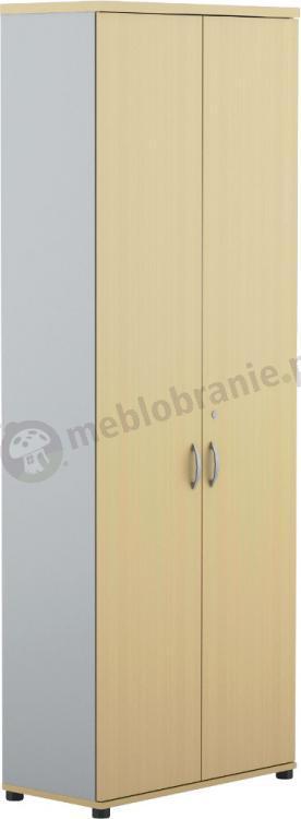 Wysoka szafa biurowa dwudrzwiowa Svenbox Invest VH61