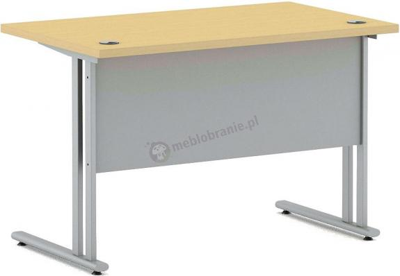 Małe biurko na metalowym stelażu Svenbox Invest VBM071