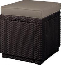 Siedzisko ze schowkiem Keter Cube z poduszką