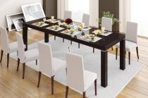 Stół Capri Duo brązowy połysk