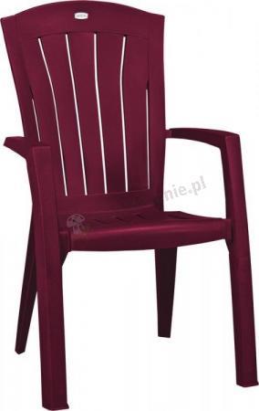 Krzesło ogrodowe Santorini bordowe