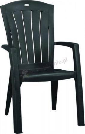 Krzesło ogrodowe Santorini grafitowe