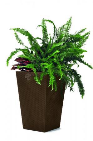 WYPRZEDAŻ - Elegancka doniczka Keter Small Planter (S-23L) - Brązowa