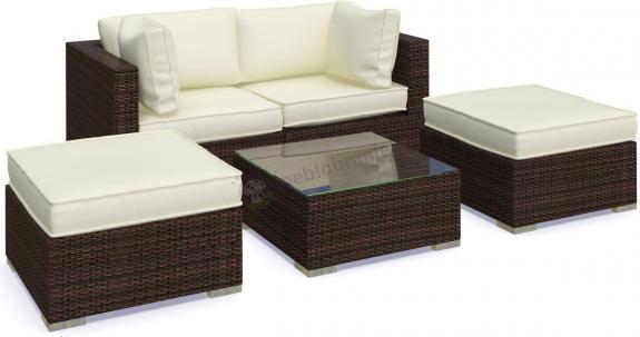 Ogrodowe meble technorattan sofa ii nilamito brown ecru for Sofas tolosa