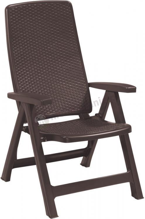 Fotel ogrodowy rozkładany Montreal brązowy