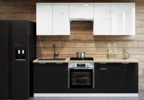 Zestaw mebli kuchennych AKRYLIC 240cm / 8 elementów