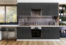 Zestaw mebli kuchennych FLINTON 240cm / 8 elementów